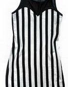 sukienka tunika w pionowe paski