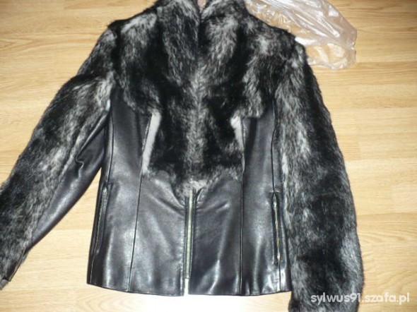 kurtka skóra z futerkiem
