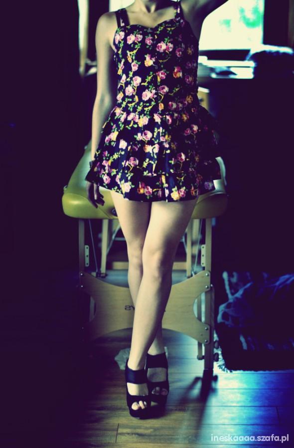 Romantyczne Sukienka w kwiatki