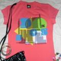 bluzka marki DC różowa nowa