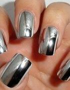 Naklejki na paznokcie NAIL WRAPS lustrzane Silver