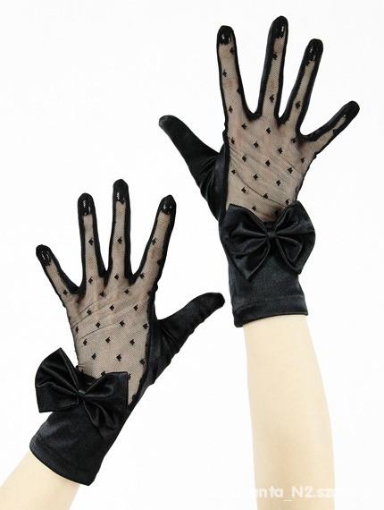 Rękawiczki wieczorowe retro goth koronka...