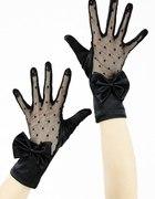 Rękawiczki wieczorowe retro goth koronka