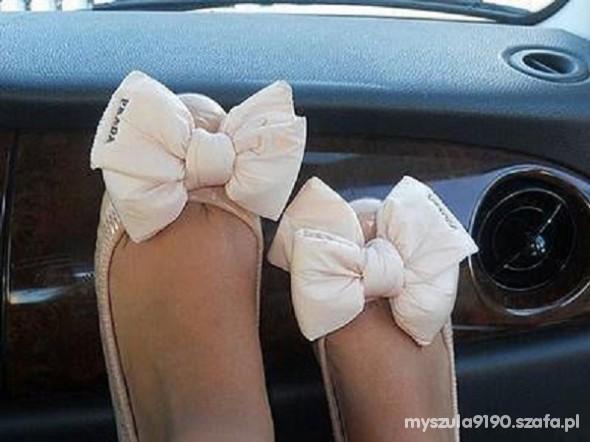 balerinki z kokardami rozmiar 36 lub 37