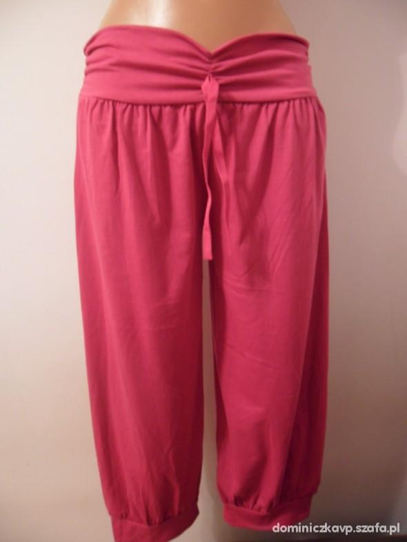Spodenki Super modne sindbady spodnie w kolrze RÓŻOWYM