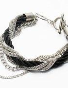 Nowa srebrno czarna bransoletka Zobacz