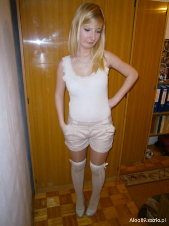 Sexi Biało beżowo
