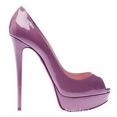 Buty w kolorze lila lub jasny fiolet...