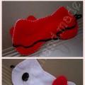 opaska na oczy do spania Hello Kitty z filcu