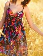 H&M kwiatowa sukienka