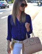 Kobaltowa koszula