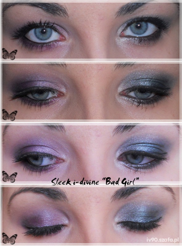 Makijaż Sleek Bad Girl i divine palette
