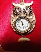 Naszyjnik sowa z zegarkiem