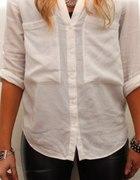biała koszula z lejacego materiału roz L