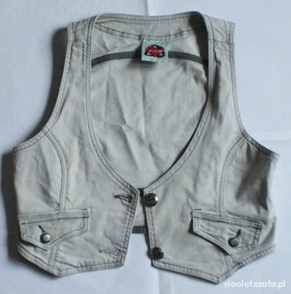 15 zł z wysyłką kamizelka jeansowa