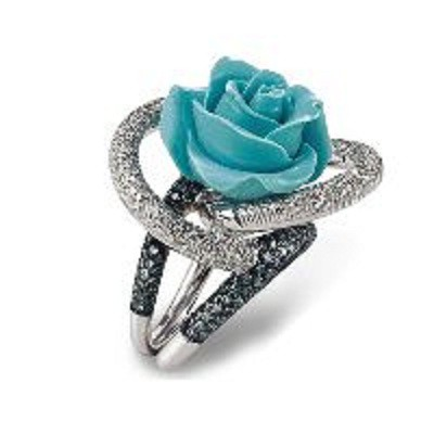 Wielki z niebieską różą