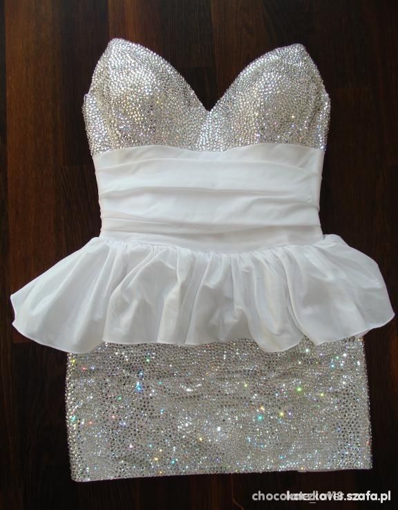 Świeże Cudna sukienka z kryształkami cyrkoniami w Suknie i sukienki NZ25