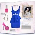 zestaw z kobaltową sukienką
