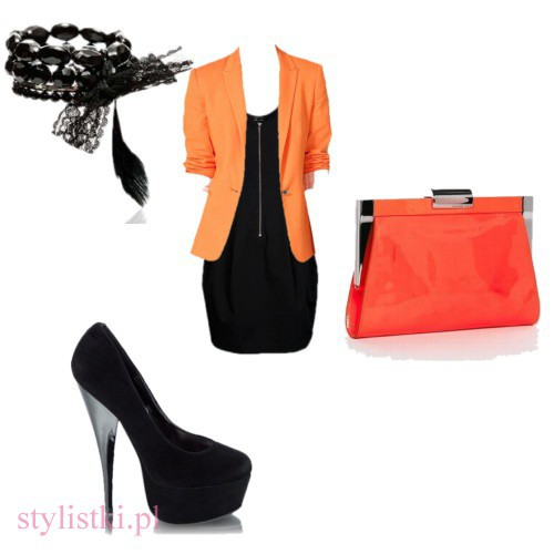 Wieczorowe Black&Orange