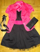 Czarno i różowo