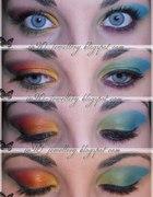 kolorowe makijaże...