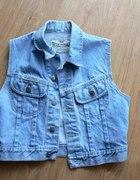 jeansowa kamizelka