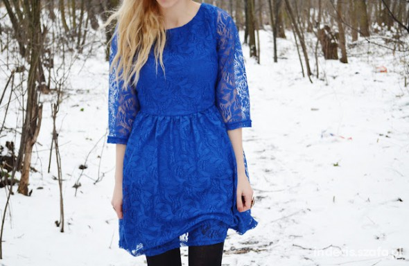 Eleganckie blue dress