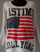 Mój Nowy sweterek z Flagą USA OVERSIZE