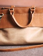 Beżowo brązowa torebka Stradivarius