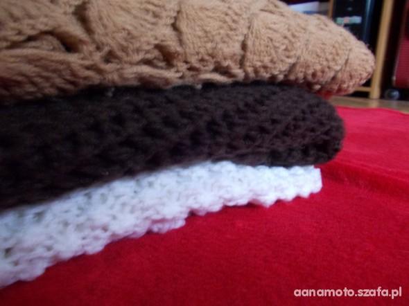 Chusty i apaszki Mega chusta hand made ogromna czekoladowa