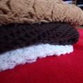 Mega chusta hand made ogromna czekoladowa