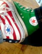 Converse moje trampki flaga USA