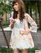 Japan Style sukienka w kwiaty