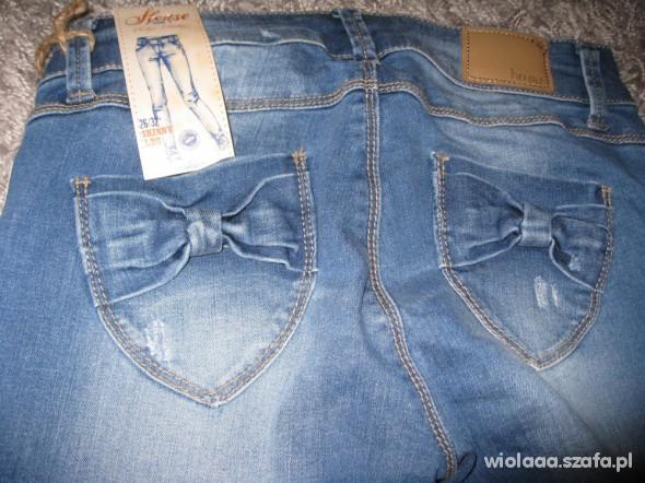 Spodnie Jeansy z kokardzkami House
