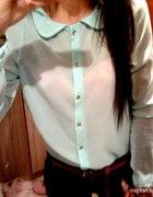 MIĘTOWA koszula mgiełka