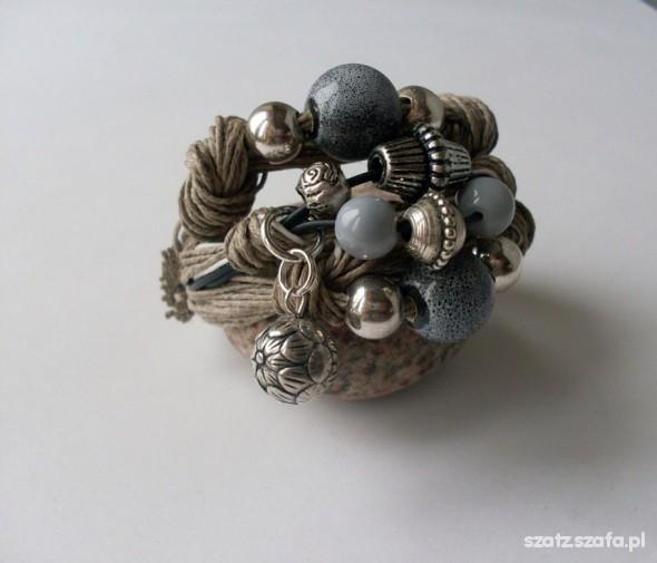 756 szara bransoletka justyna handmade