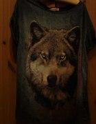 bluzka z wilkiem bershka