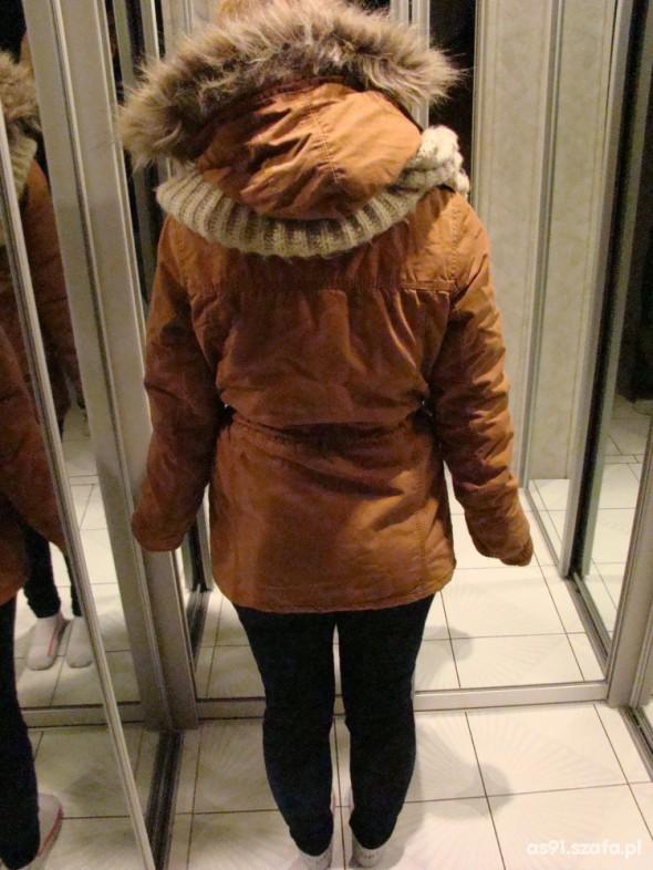 0640464044b6b Parka New Yorker karmelowa Zara Bershka HM w Odzież wierzchnia ...