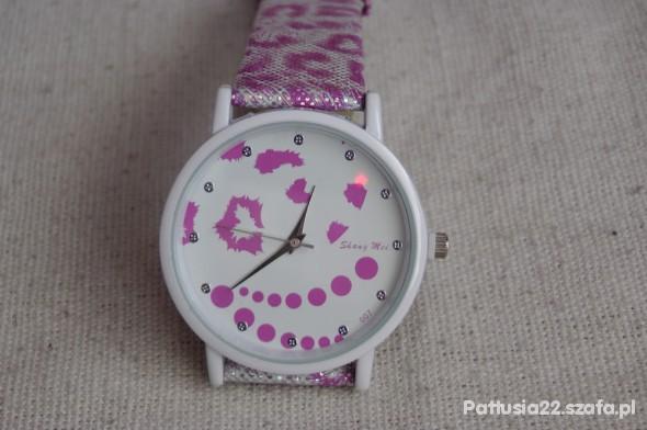 Zegarki WYPRZEDAŻ ŚLICZNY NOWY BŁYSZCZĄCY RÓŻOWY ZEGAREK
