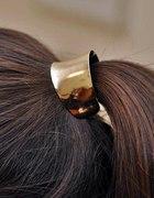Złoty hair cuff H&M