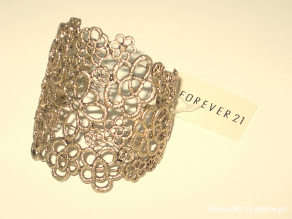 Piękna złota bransoleta