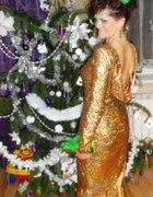 zlota długa sukienka