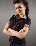 Koszulka pin up rockabilly w panterke papercats M