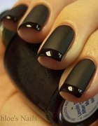 Zakochałam sie paznokcie czerń&czerń
