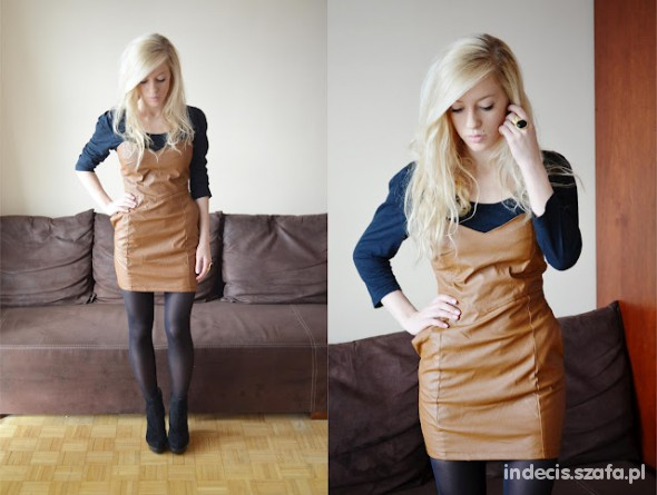 Eleganckie Leather dress