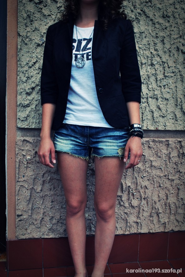 Mój styl szorty tshirt marynarka