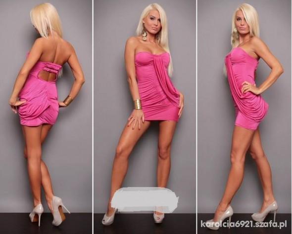 Eleganckie Sukienka Pink