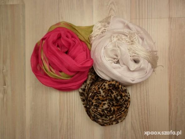 Chusty i apaszki 3szt apaszki szaliczki w świetnych kolorach