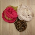 3szt apaszki szaliczki w świetnych kolorach
