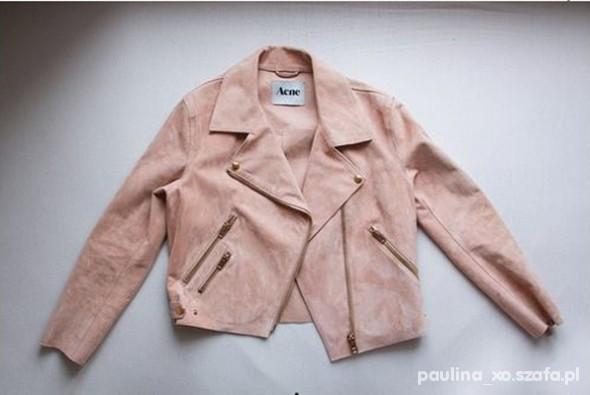 Ubrania Ramoneska pudrowo różowa